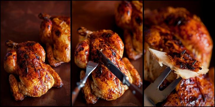 Chicken with crisp mahogany