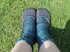 Crocs and socks!