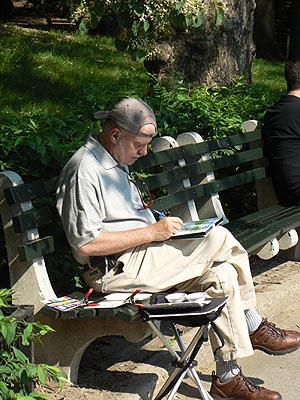 peintre à  central park.jpg