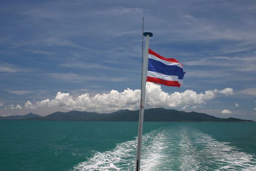 On the ferry from Koh Pha-Ngan to Koh Samui...