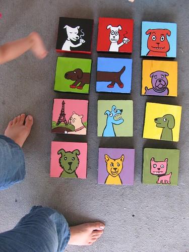 enough paintings to shake a foot at