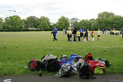 Army training camp for kids in Regent's Park