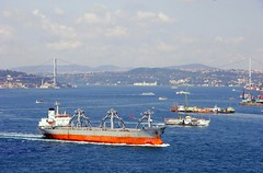 Bosphorus ship traffic, Istanbul, Turkey, July, 2006 (Ivan S. Abrams) Tags: coastguard docks turkey boats mediterranean ataturk canon20d ships istanbul lighters nautical shipping tugs straits ports blacksea gallipoli ferries harbors watercraft bosphorus tugboats vessels freighters tankers harbours cruiseships barges smrgsbord warships bogaz destroyers ferryboats navyships speedboats frigates internationaltrade classicboats seaofmarmara navies containerships 5photosaday portcities oceanliners navalvessels bulkcarriers chokepoints onlythebestare boatnerd ivansabrams trainplanepro internationalshipping sealanes ivanabrams tucson3985 worldwideshipspotters servicecraft oceancommerce boxcarriers feriobots coastalfreighters marinecommerce internationalcommerce maritimecommerce seaportsseaportmaritime crossroadsasiaeuropebosforbogazasia minorboxesintermodal tugobats copyrightivansafyanabrams2009allrightsreservedunauthorizeduseprohibitedbylawpropertyofivansafyanabrams unauthorizeduseconstitutestheft thisphotographwasmadebyivansafyanabramswhoretainsallrightstheretoc2009ivansafyanabrams abramsandmcdanielinternationallawandeconomicdiplomacy ivansabramsarizonaattorney ivansabramsbauniversityofpittsburghjduniversityofpittsburghllmuniversityofarizonainternationallawyer