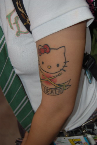 hello kitty tattoo art. Comic Con 2007: Hello Kitty