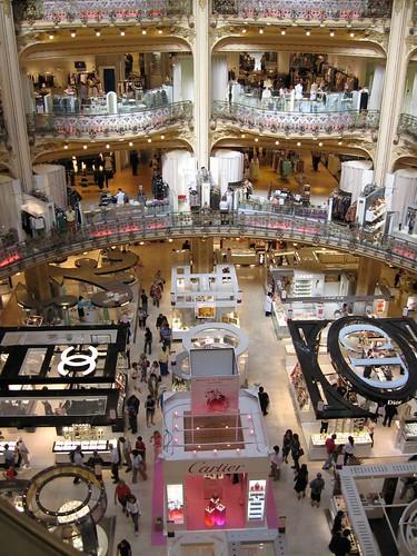 Galerías Lafayette desde la 4ª planta
