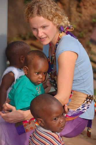 Jamie, a volunteer in Uganda