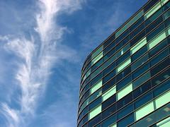 Blues Skies In Salford - by Caro Wallis