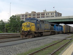 GE AC6000CW 635 hauls motors from Cleveland through Worcester 26-08-07