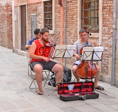 Street Musicians (JuanJ) Tags: new travel family venice wedding friends party vacation italy favorite beach me photoshop lumix photo interestingness amazing friend flickr picture eu panasonic explore photograph fav ps2 favs fz fz30