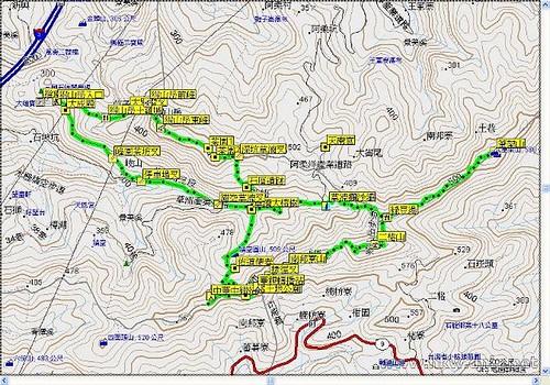 猴山嶽、二格山map