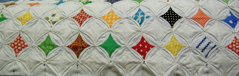 Cathedral Window Quilt - In Progress