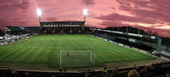Stark's Park, Kirkcaldy (the44mantis) Tags: winter sunset game field grass sport ball evening scotland football goal fife stadium thistle contest match pitch spectator floodlight floodlit inverness ict rovers kirkcaldy caley kirkaldy raith raithrovers kircaldy
