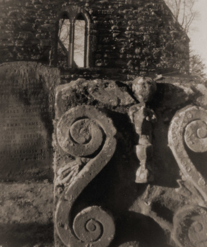 Alloway kirk, pinhole with converted Agfa Clack