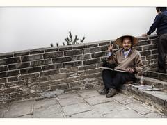 Finger painter (Kaj Bjurman) Tags: china mist man fog wall canon painting eos finger chinese hdr kaj cs4 photomatix bjurman