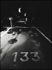 Parking Lot 133 (Yves Roy) Tags: street nightphotography blackandwhite bw night dark blackwhite europe raw streetphotography eu gr bandw ricoh yr austra darknight darknights fav10 therogue blackwhitephotos  grdiii ricohgrdiii yvesroy darkstreetphotography