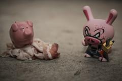 So we meat again... (Doug Smith Media) Tags: toy toys pig robot bacon kid contest vinyl kidrobot slaughter madl stokes dunny spanky nom spankystokescom spankystokes