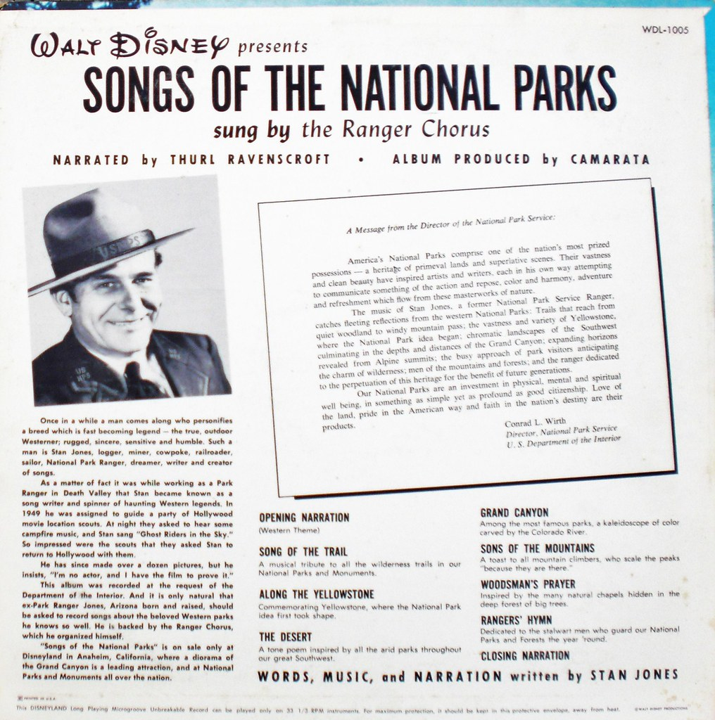 SONGS OF THE NATIONAL PARKS back cover