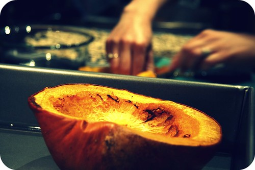 close up roasted pumpkin