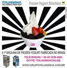 Maquina Frozen Yogurt Made in Brasil (MQUINAS DE SORVETE ITALIANINHA (51) 3500-1535) Tags: soft shoppingcenter milkshake quiosque sundaes iogurte negcio sebrae casquinha madeinbrazil tendncia yogurteria franquia italianinha pegn yogurteira italianinhamquinas fabricadanobrasil frozenyogurtmachine mquinasdesorveteitaliano designfrozenyogurt altadefinioemfrozenyogurt vendasdiretobrasil