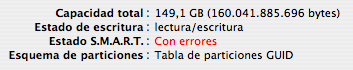 El disco duro de mi MacBook Pro