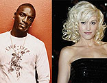 Akon and Gwen Stefani