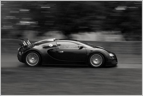 black and white bugatti