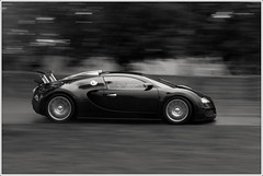 Bugatti in Black (Sikario) Tags: blackandwhite black 20d canon 50mm fast contax bugatti supercar goodwood veyron festivalofspeed f17 bugattiveyron