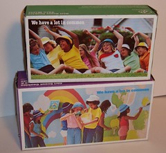 Girl Scout Cookies boxes