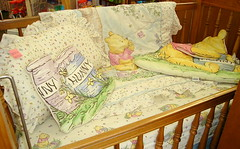 Crib with Pooh Bedding