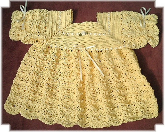Ravelry Open Crescent Christening Gown Set Pattern By Kay Meadors