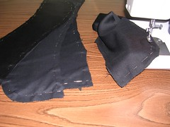 four front pieces with interfacing