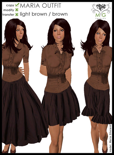 [MG fashion] MARIA OUTFIT - lightbrown/brown