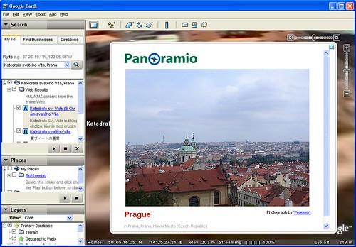 Prague with google earth