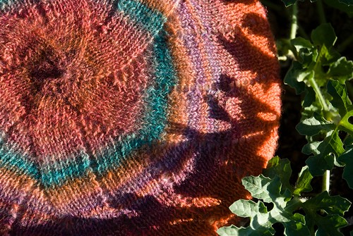 Hand Dyed, Hand Spun, Hand Knit Pseudo FO