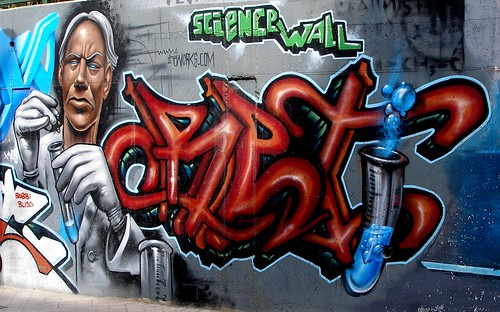 Grafitti - Science Wall by Landahlauts.