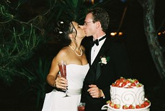 Adie and Ben kiss after cake. (Ben & Adie 3) Tags: wedding cake dance ben reception adie dacing