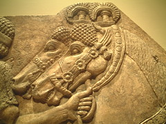 Tiles_5010 (augment_me) Tags: horse museum america manhattan interior relief indoors assyrian themetropolitanmuseumofart artificiallighting