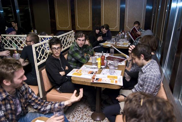 30 vegans at a diner