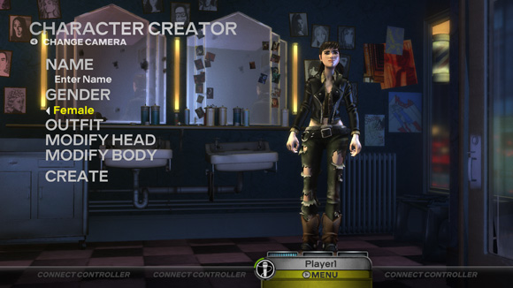 Rock Band 3 - Character Creator screen