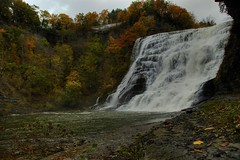 Below Ithaca Falls (BIG Slow) Tags: autumn ny color fall nature water stream waterfalls fingerlakes