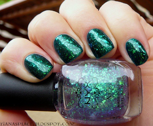 Barry M - Racing Green + NYX - Purple Ave #1