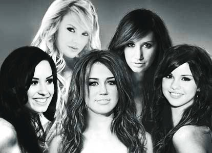 selena gomez and demi lovato and taylor swift and miley cyrus. demi lovato, taylor swift,