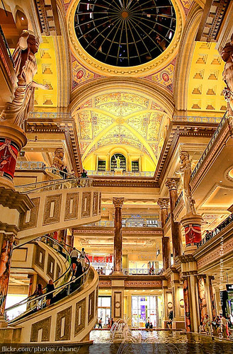 Caesars Palace (#45) -- vegas las lasvegas travel nevada strip casino gambling usa caesar shopping escalator