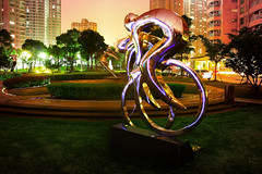 Silver riders (Dan Bennett2891) Tags: china lightpainting dan night canon photography eos asia shanghai overcast explore pudong 213 bennett shimo appartments riviara danbennett