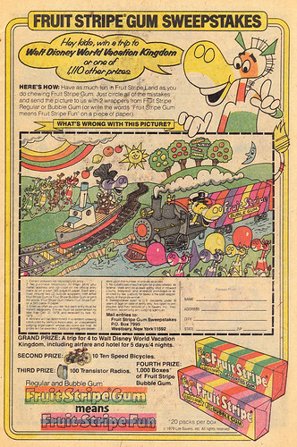 Vintage Ad #296: Fruit Stripe Sweepstakes