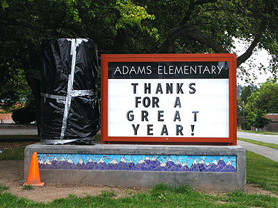 Adams sign north side