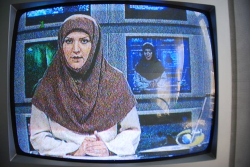Iranian TV news host