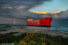 Pasha Bulker Nobbys Beach 21.6.2007 (Black Diamond Images) Tags: sunset storm clouds newcastle boat rainbow ship sunsets australia nightsky salvage stranded shipwrecked nobbysbeach bulka coalcarrier bulker pasher pashabulker lauritzenbulkers pasherbulker pashabulka blackdiamondimages cloudsstormssunsetssunrises blackdiamondimagescollection