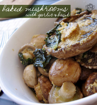 Baked Mushroom with Basil  Hsuan's