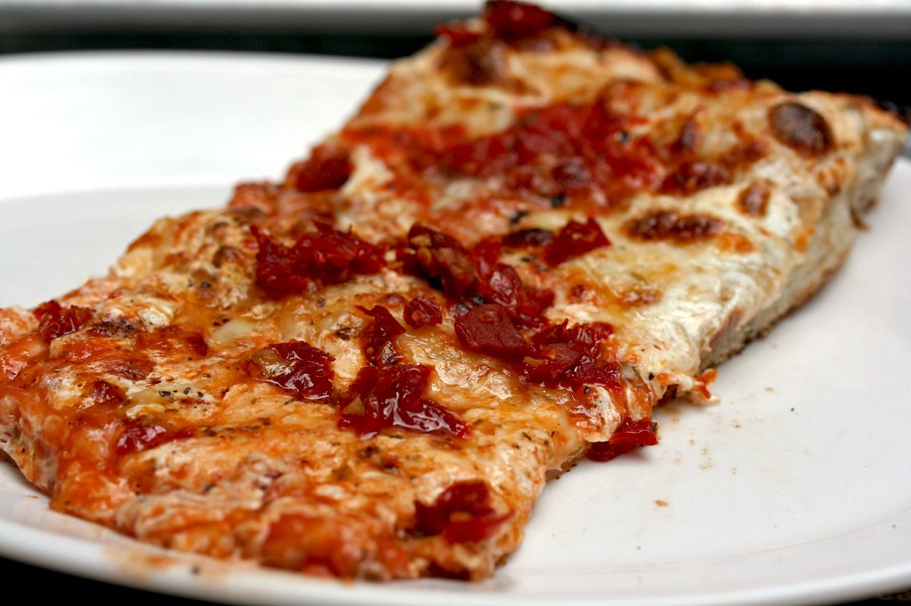 My slice of Old Fashioned pizza with Sun Dried Tomatoes